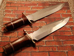 Two big bowies that I assembled with blades from Koval Knives.  $115 each or $200 for both.