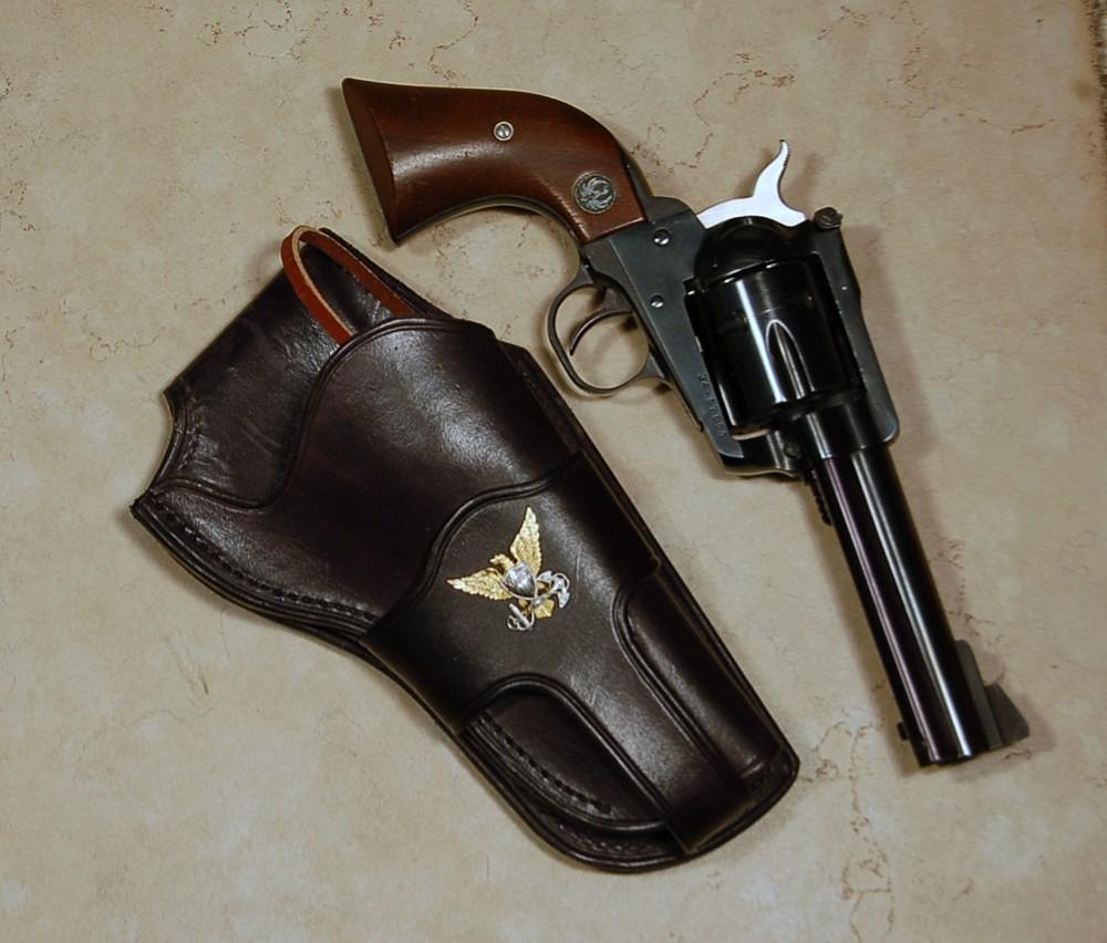 Ruger blackhawk vaquero bisley similar 7 5 barrel leather holster